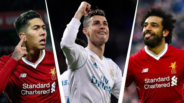 Ronaldo, Salah lĩnh xướng hàng công đội hình kết hợp Real - Liverpool