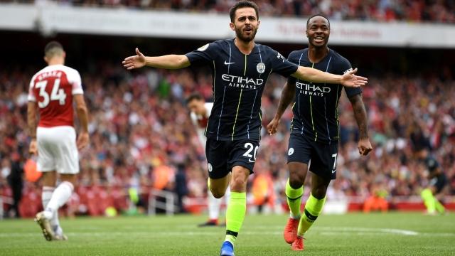 Man City đánh bại Arsenal trong ngày Emery ra mắt Ngoại hạng Anh